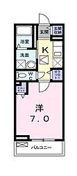 東京都小平市上水新町3丁目の賃貸アパートの間取り