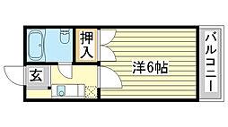 Uマンション[204号室]の間取り