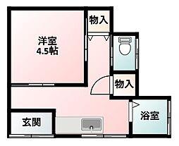 西村アパート[104号室]の間取り