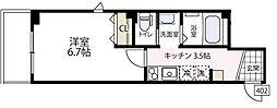 (仮称)ビューノ伊勢町[402号室号室]の間取り