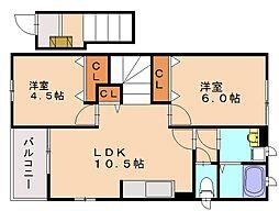 ラッフィナート1[2階]の間取り
