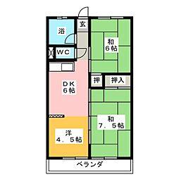 第2杉本ビル[4階]の間取り