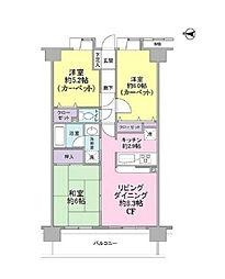 セレナハイム津田沼アブリール[9階]の間取り