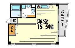 コロナール甲子園[3階]の間取り