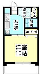 Sun Side Yamabe[4階]の間取り