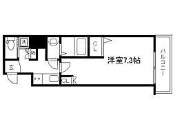 Osaka Metro谷町線 天満橋駅 徒歩7分の賃貸マンション 3階1Kの間取り