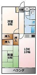 メゾン甲子園トキワ[2階]の間取り