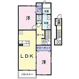 ジームスC[2階]の間取り