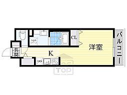 DAIWA RESIDENCE IBARAKI 4階1Kの間取り