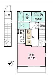 東京都墨田区向島1丁目の賃貸アパートの間取り