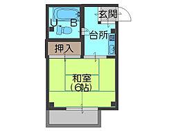 前川ハイツ[305号室]の間取り