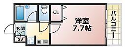 シェレナ六甲[4階]の間取り