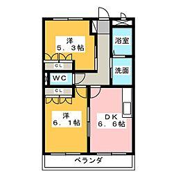 パインハート[1階]の間取り