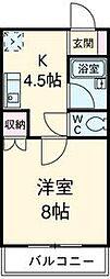 マンション紫尾[201号室]の間取り