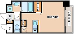 JR山陽本線 新長田駅 徒歩2分の賃貸マンション 8階ワンルームの間取り