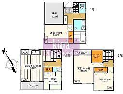 [一戸建] 神奈川県横浜市西区中央2丁目 の賃貸【/】の間取り