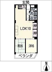 トミタビル四軒家[3階]の間取り