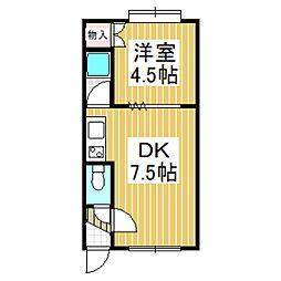 マンハイム日吉[2階]の間取り