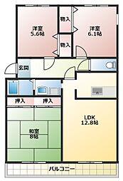 メゾンT&T[2階]の間取り