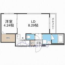 札幌市営東西線 南郷13丁目駅 徒歩5分の賃貸マンション 4階1LDKの間取り