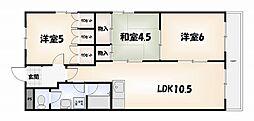 第14柴田マンション[6階]の間取り