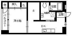 昌栄マンション[5階]の間取り