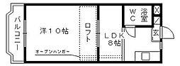 コナビック西塚I[3D号室]の間取り