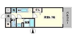 プレサンス THE TENNOJI 逢阪トゥルー 6階1Kの間取り