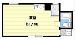 サンライズ姫島[4B号室]の間取り