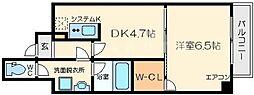 クレアートアドバンス北大阪[11階]の間取り