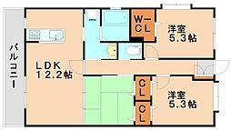 ヴェルドミール[3階]の間取り