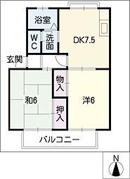 ツインハイム A棟[2階]の間取り