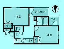 デュオPart1[2階]の間取り