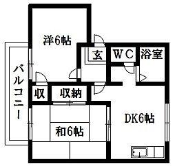 ベルツリーウィンII[1階]の間取り