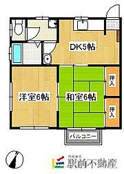 富士コーポ[12号室]の間取り