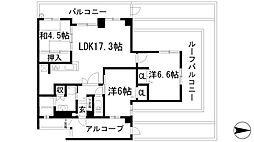 兵庫県伊丹市緑ケ丘6丁目の賃貸マンションの間取り