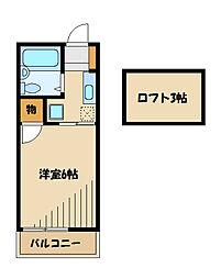 アリスコーポ町田B[2階]の間取り