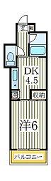 ジュネパレス柏第29[4階]の間取り