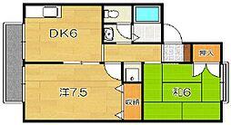 サンビエール桂坂[1階]の間取り