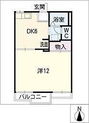 パインハイツ B棟[2階]の間取り