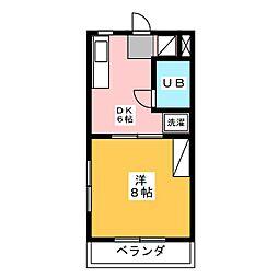 グリーンヒル秋葉B[3階]の間取り