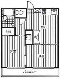 MステージII[3階]の間取り