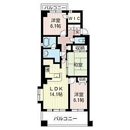 ラ・アトレ松戸[2階]の間取り