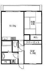 ソレイアード横浜[2階]の間取り