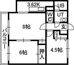 MRハウス[4階]の間取り