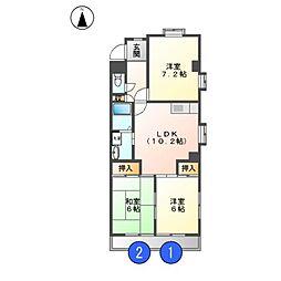 清和ビル[1階]の間取り