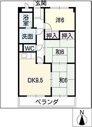 ピボットマンション池下[2階]の間取り