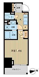 ルフォンプログレ三田[7階]の間取り