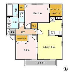 レジデンス神ノ倉(レジデンスカミノクラ)[2階]の間取り