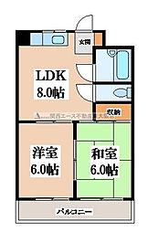 ルーチェ長田[5階]の間取り